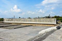 Εξωτερική άποψη του φάρου του Christopher Columbus στο μπλε ουρανό Δυτική ζώνη Santo Domingo, Δομινικανή Δημοκρατία Στοκ εικόνες με δικαίωμα ελεύθερης χρήσης