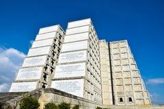 Εξωτερική άποψη του φάρου του Christopher Columbus στο μπλε ουρανό Δυτική ζώνη Santo Domingo, Δομινικανή Δημοκρατία Στοκ Φωτογραφίες