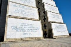 Εξωτερική άποψη του φάρου του Christopher Columbus στο μπλε ουρανό Δυτική ζώνη Santo Domingo, Δομινικανή Δημοκρατία Στοκ Εικόνες