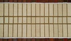 Εξωτερική διάβαση πεζών τούβλου για το στοιχείο υποβάθρου, σύστασης ή σχεδίου Στοκ Εικόνες