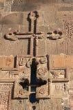 Εξωτερική διακόσμηση ενός τοίχου σε μια αρμενική εκκλησία Sagmosavank Στοκ εικόνα με δικαίωμα ελεύθερης χρήσης