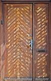 Εξωτερική ξύλινη πόρτα Στοκ φωτογραφίες με δικαίωμα ελεύθερης χρήσης