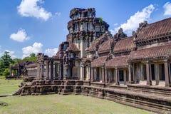 Εξωτερική στοά του Angkor Wat σύνθετο Στοκ Φωτογραφίες