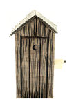 εξωτερική τουαλέτα εγγράφου Στοκ εικόνα με δικαίωμα ελεύθερης χρήσης