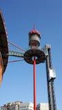 Εξωτερικός ανελκυστήρας γυαλιού στους χώρους de Βαρκελώνη Στοκ Εικόνες