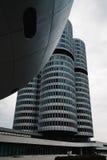 Εξωτερικός πυροβολισμός των κύριων γραφείων της BMW στο Μόναχο Στοκ Εικόνες