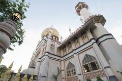 εξωτερικός σουλτάνος Σινγκαπούρης μουσουλμανικών τεμενών masjid Στοκ Εικόνα