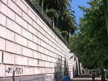 Εξωτερικός τοίχος βοτανικών κήπων της Ιταλίας Νάπολη Στοκ Φωτογραφία