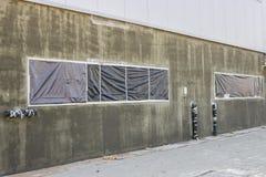 Εξωτερικός τοίχος με τις προστατευόμενες ζώνες 2 Στοκ Φωτογραφία