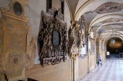 Εξωτερικό αίθριο Archiginnasio, Μπολόνια Στοκ Εικόνες