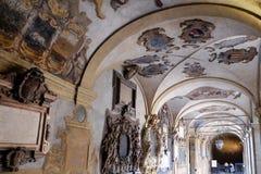 Εξωτερικό αίθριο Archiginnasio, Μπολόνια Στοκ φωτογραφίες με δικαίωμα ελεύθερης χρήσης