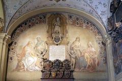 Εξωτερικό αίθριο Archiginnasio, Μπολόνια Στοκ εικόνες με δικαίωμα ελεύθερης χρήσης