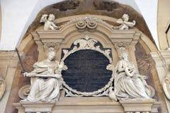 Εξωτερικό αίθριο Archiginnasio, Μπολόνια Στοκ Φωτογραφία