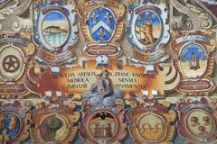 Εξωτερικό αίθριο Archiginnasio στη Μπολόνια, Ιταλία Στοκ φωτογραφίες με δικαίωμα ελεύθερης χρήσης