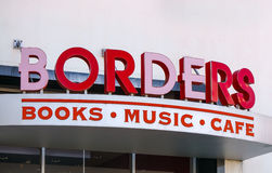 Εξωτερικό βιβλιοπωλείων συνόρων Στοκ Εικόνα