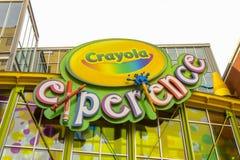 Εξωτερικό εμπειρίας εργοστασίων Crayola στοκ εικόνες με δικαίωμα ελεύθερης χρήσης