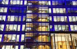 Εξωτερικό κτιρίου γραφείων, λεπτομέρεια Στοκ Εικόνες