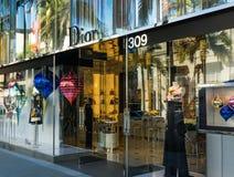 Εξωτερικό μαγαζί λιανικής πώλησης του Christian Dior στοκ φωτογραφίες