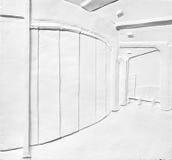 Εξωτερικό οικοδόμησης - ανακούφιση ασβεστοκονιάματος σκηνής οδών Στοκ Φωτογραφία