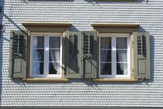 Εξωτερικό παραδοσιακού κτηρίου, Appenzell, Ελβετία Στοκ Φωτογραφίες
