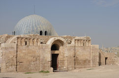 Εξωτερικό παλατιών Umayyad, Αμμάν Στοκ Εικόνες