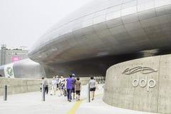 Εξωτερικό σχέδιο Plaza, Σεούλ, Νότια Κορέα Dongdaemun Στοκ Εικόνες
