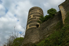Εξωτερικό της Angers Castle, πόλη της Angers, Γαλλία Στοκ Εικόνες