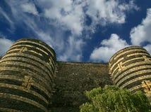 Εξωτερικό της Angers Castle, πόλη της Angers, Γαλλία Στοκ Φωτογραφίες