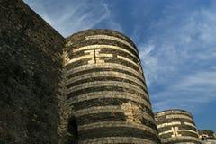 Εξωτερικό της Angers Castle, πόλη της Angers, Γαλλία Στοκ Εικόνα