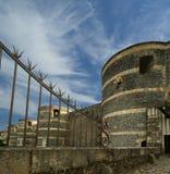 Εξωτερικό της Angers Castle, πόλη της Angers, Γαλλία Στοκ εικόνες με δικαίωμα ελεύθερης χρήσης