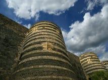 Εξωτερικό της Angers Castle, πόλη της Angers, Maine-et-Loire, Γαλλία Στοκ Φωτογραφίες