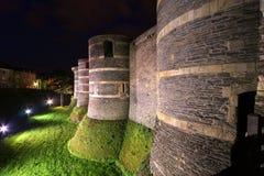 Εξωτερικό της Angers Castle, πόλη της Angers, Maine-et-Loire, Γαλλία Στοκ Εικόνες