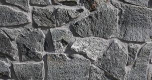 Εξωτερικό τοίχων πετρών γρανίτη στον ήλιο, σύσταση απόθεμα βίντεο