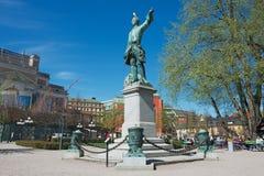 Εξωτερικό του αγάλματος του Charles ΧΙΙ (Karl ΧΙΙ) στη Στοκχόλμη, Σουηδία Στοκ Εικόνες