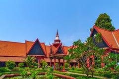 Εξωτερικό του Εθνικού Μουσείου Royal Palace Pnom Penh, Cambodi Στοκ φωτογραφία με δικαίωμα ελεύθερης χρήσης