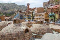 Εξωτερικό του δημόσιου λουτρού στο Tbilisi, Γεωργία στοκ εικόνες