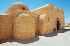 Εξωτερικό του κάστρου Qasr Amra ερήμων Amra κοντά στο Αμμάν, Ιορδανία Στοκ εικόνες με δικαίωμα ελεύθερης χρήσης