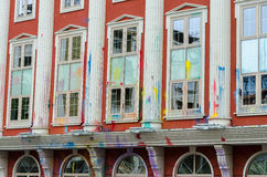 Εξωτερικό του κτηρίου υπουργείου δικαιοσύνης, Skopie, Makedonia Στοκ εικόνα με δικαίωμα ελεύθερης χρήσης