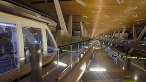 Εξωτερικό του νέου διεθνούς αερολιμένα Hamad σε Doha, ΚΑΤΑΡ στοκ εικόνες