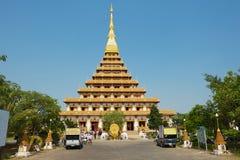Εξωτερικό του ναού Phra Mahatat Kaen Nakhon σε Khon Kaen, Ταϊλάνδη Στοκ Εικόνες