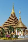 Εξωτερικό του ναού Phra Mahatat Kaen Nakhon σε Khon Kaen, Ταϊλάνδη Στοκ Φωτογραφίες