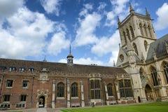 Εξωτερικό του παρεκκλησιού κολλεγίου του ST Johns, Αγγλία στοκ εικόνες με δικαίωμα ελεύθερης χρήσης