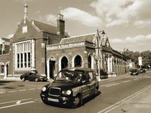 Εξωτερικό του σιδηροδρομικού σταθμού όχθεων ποταμού Windsor & Eton στοκ φωτογραφίες με δικαίωμα ελεύθερης χρήσης