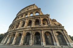 Εξωτερικό του Colosseum στη Ρώμη Στοκ Φωτογραφία