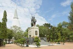 Εξωτερικό του Don Chedi μνημείου σε Suphan Buri, Ταϊλάνδη Στοκ Εικόνα