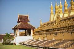 Εξωτερικό του Pha που χρυσό stupa Luang σε Vientiane, Λάος Στοκ Εικόνες
