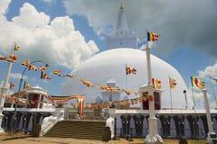 Εξωτερικό του stupa Ruwanwelisaya σε Anuradhapura, Σρι Λάνκα Στοκ φωτογραφία με δικαίωμα ελεύθερης χρήσης