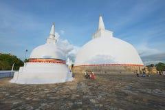 Εξωτερικό του stupa Ruwanwelisaya σε Anuradhapura, Σρι Λάνκα Στοκ φωτογραφίες με δικαίωμα ελεύθερης χρήσης