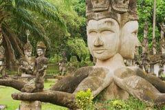 Εξωτερικό των γλυπτών στο πάρκο του Βούδα σε Vientiane, Λάος Στοκ Φωτογραφία
