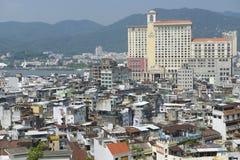 Εξωτερικό των στο κέντρο της πόλης κατοικημένων κτηρίων του Μακάο στο Μακάο, Κίνα Στοκ εικόνες με δικαίωμα ελεύθερης χρήσης